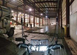 Metal stamping plant screed rental